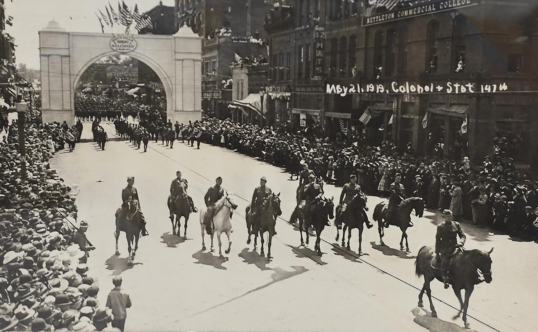 Post-War Parade in Sioux Falls South Dakota
