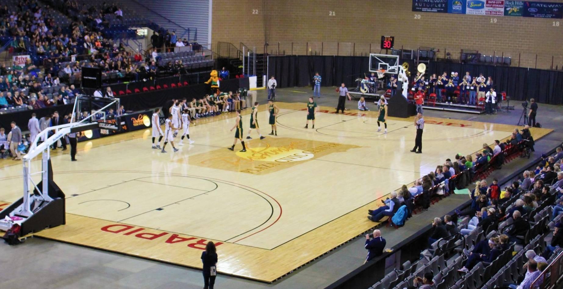 Rushmore Plaza Civic Center basketball court
