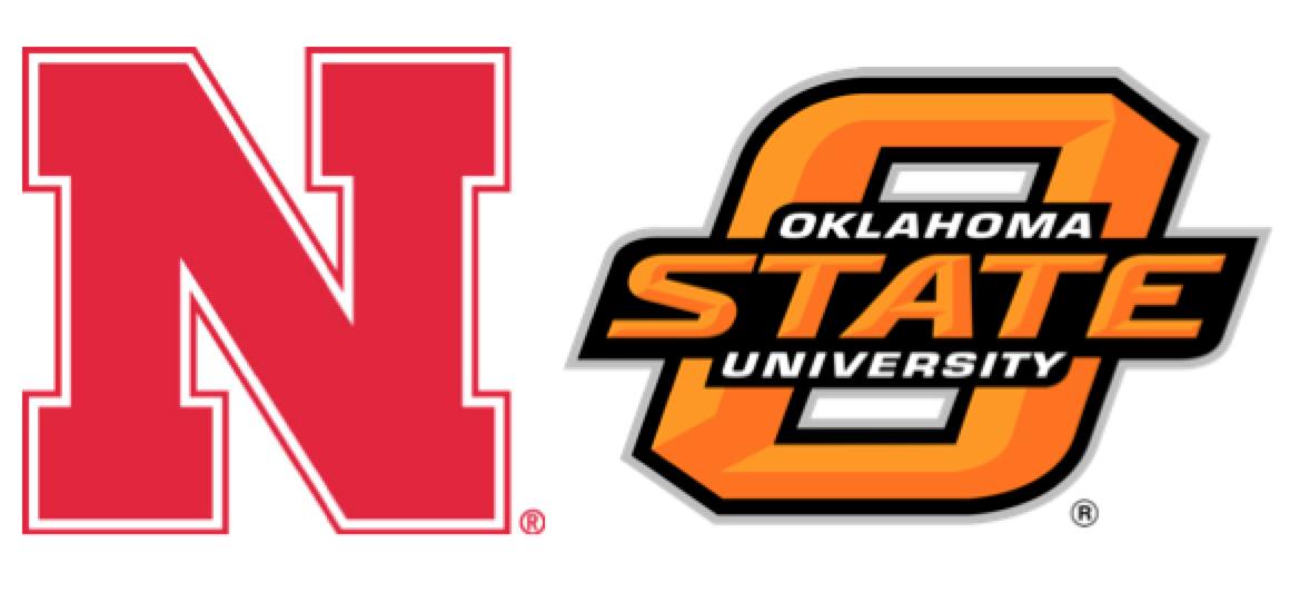 Nebraska and Oklahoma State logos