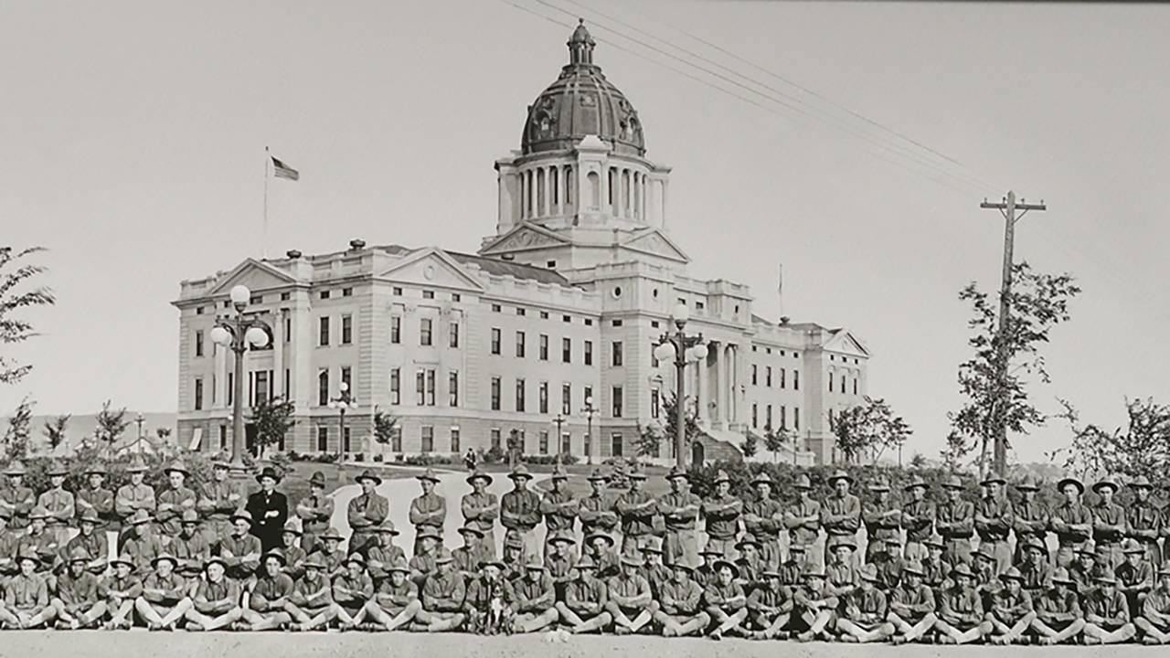 South Dakota National Guardsmen, 1917