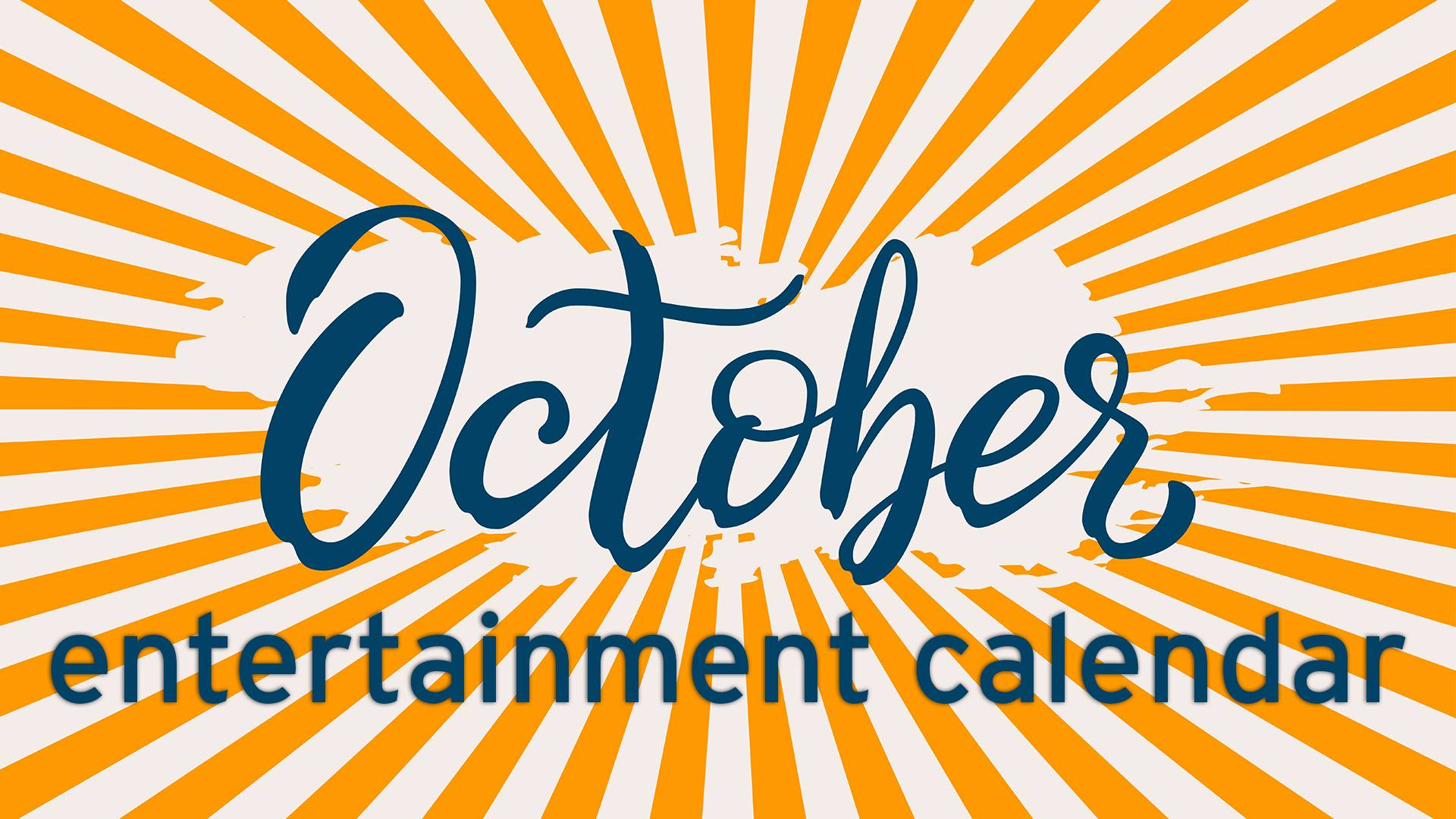 October Entertainment Calendar Halloween Old Dominion Jersey