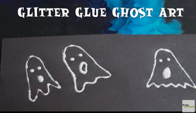 Glitter Glue Ghost