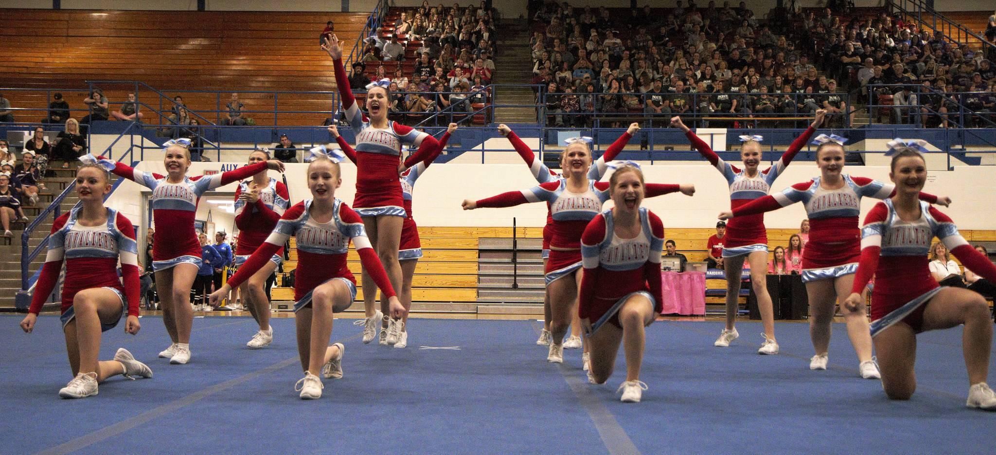 Brandon Valley cheer team