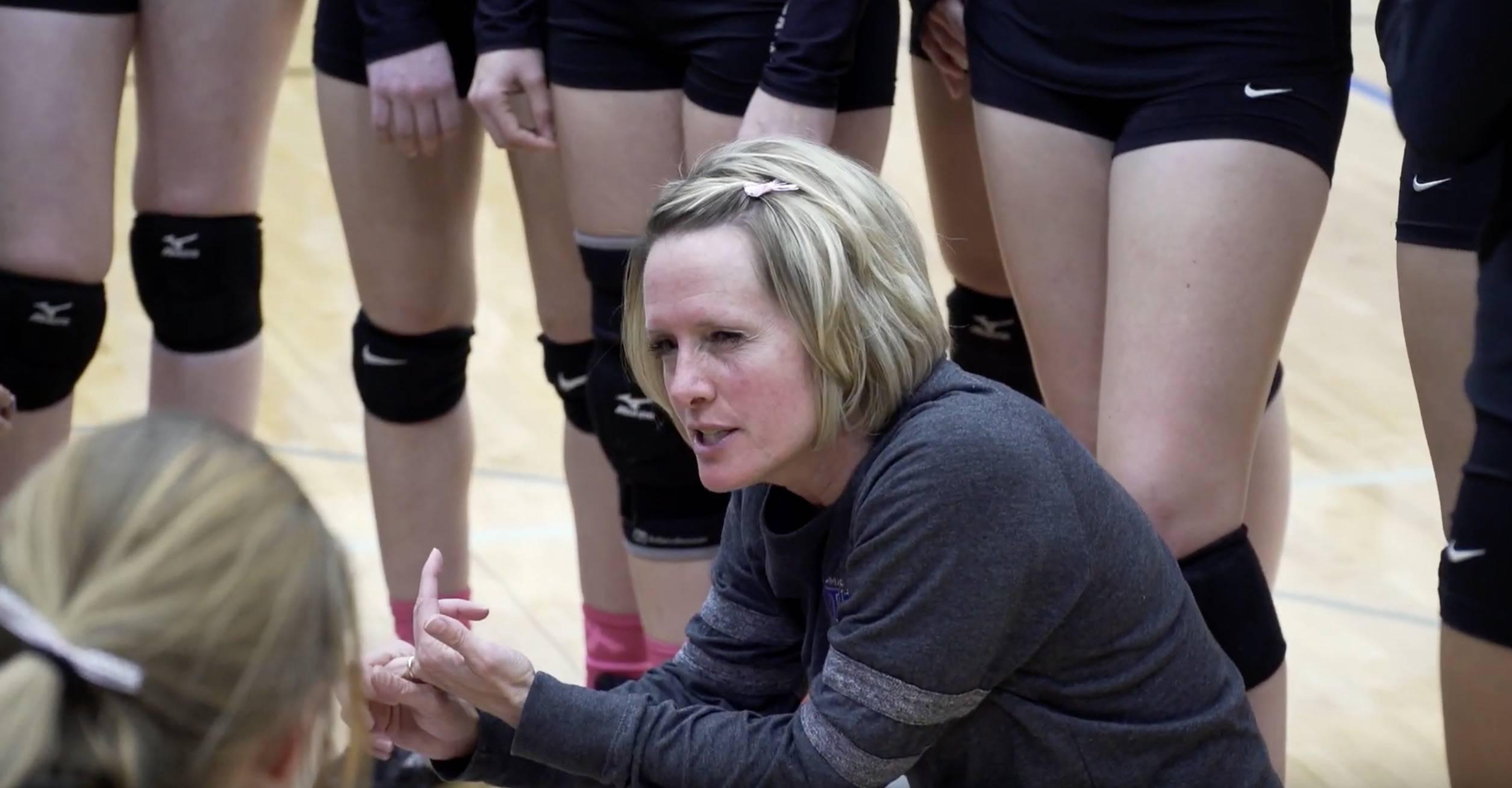 Volleyball head coach Darcy Deinert