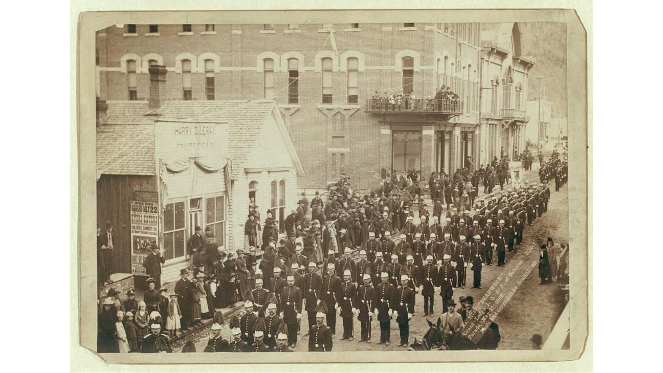 1890 Street Parade in Deadwood SD