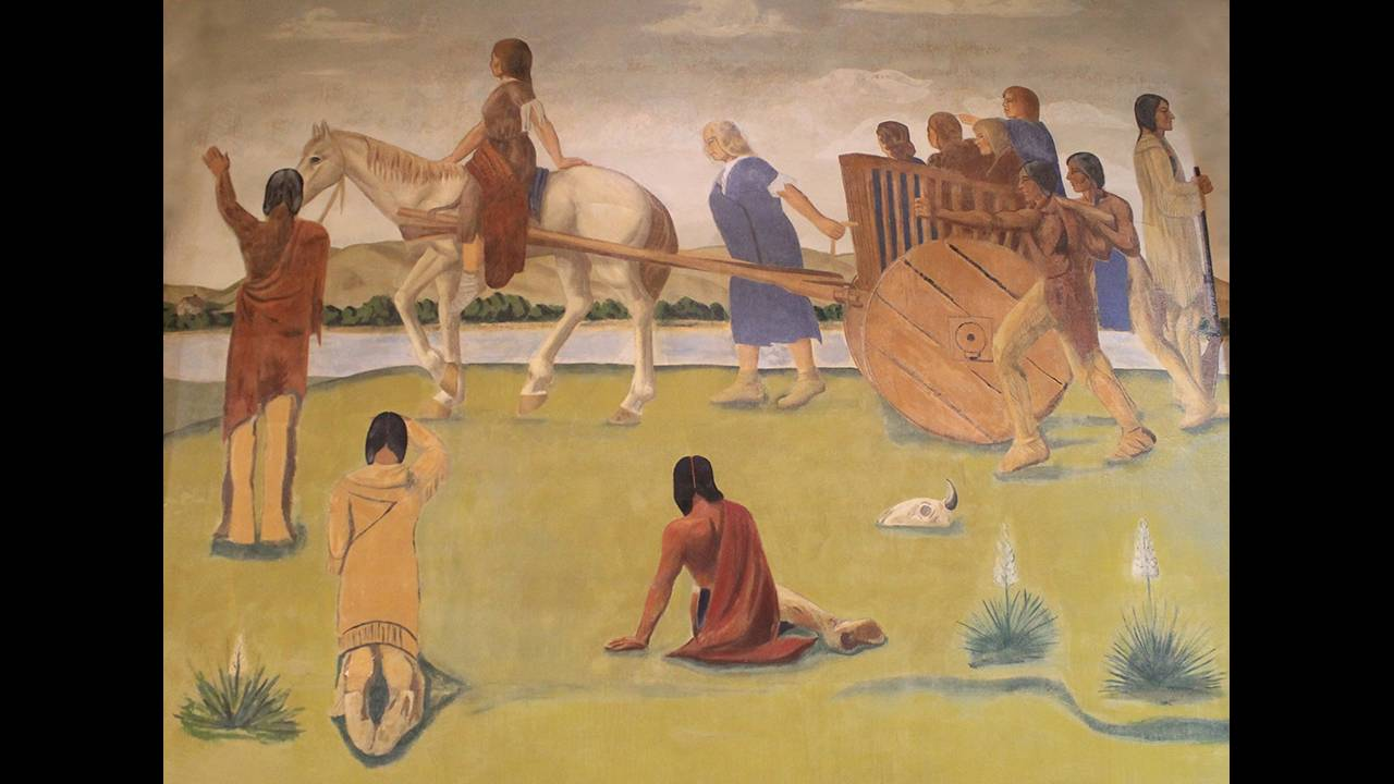 Mural by Oscar Howe, Scherr-Howe Arena, Mobridge