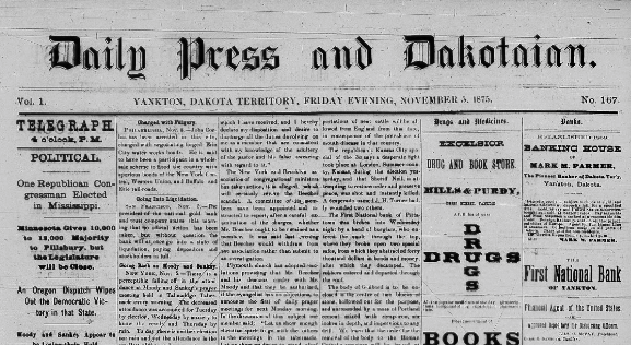 Daily Press and Dakotaian 1875