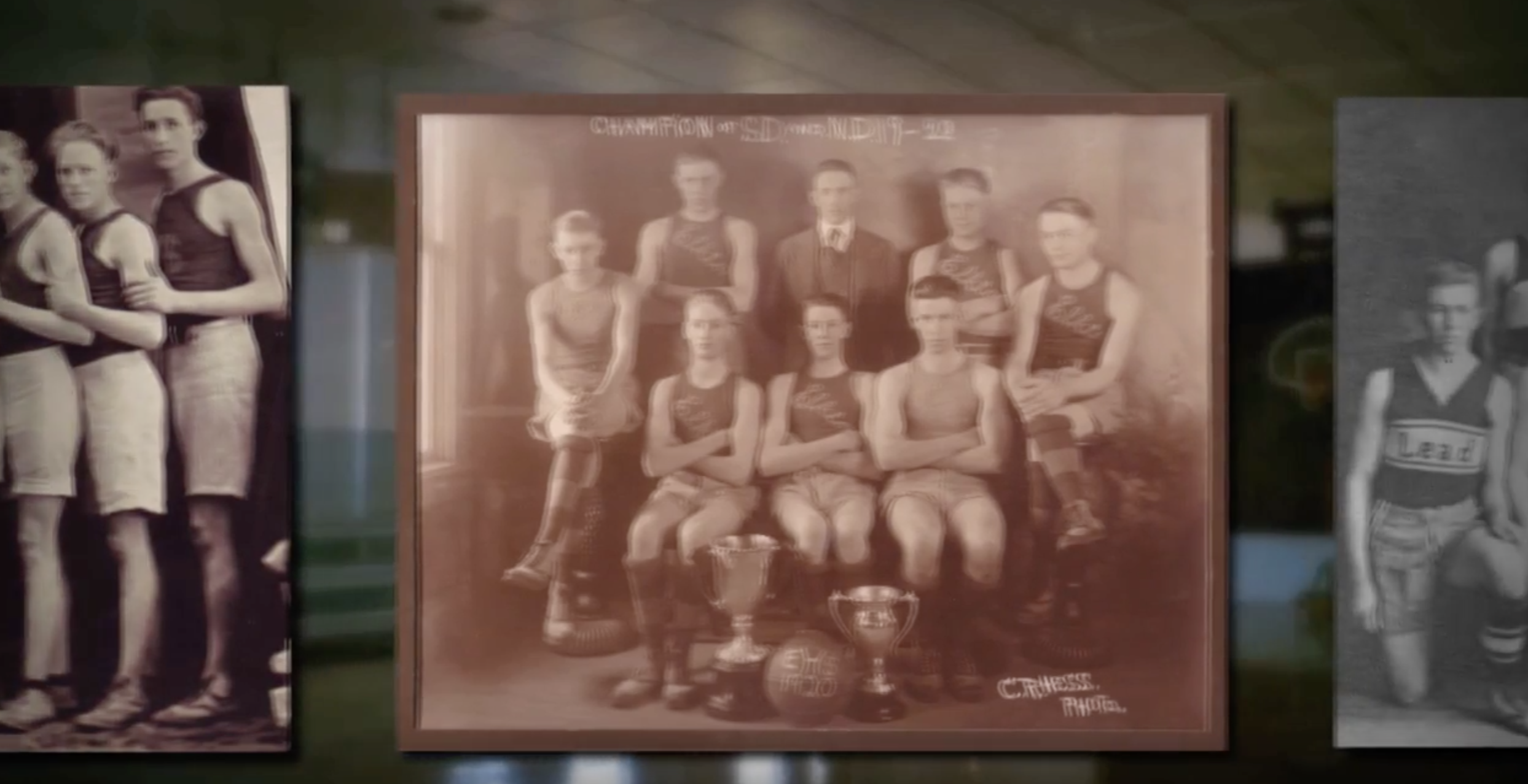 Old high school basketball championship photo