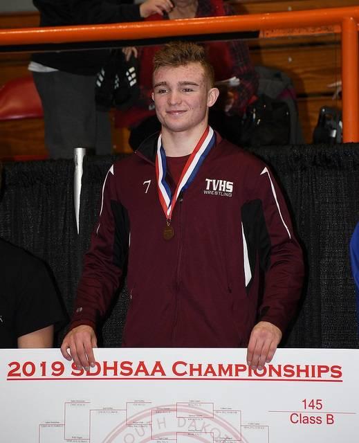 Tri-Valley 145-pound Champion Caden Lamer