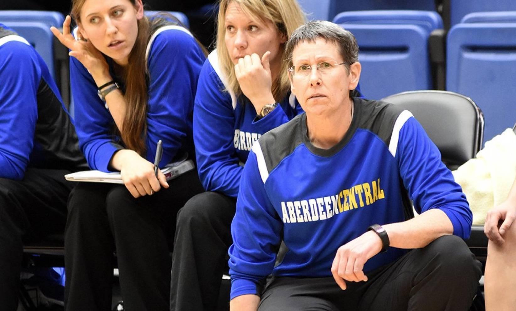 Basketball head coach Dawn Seiler
