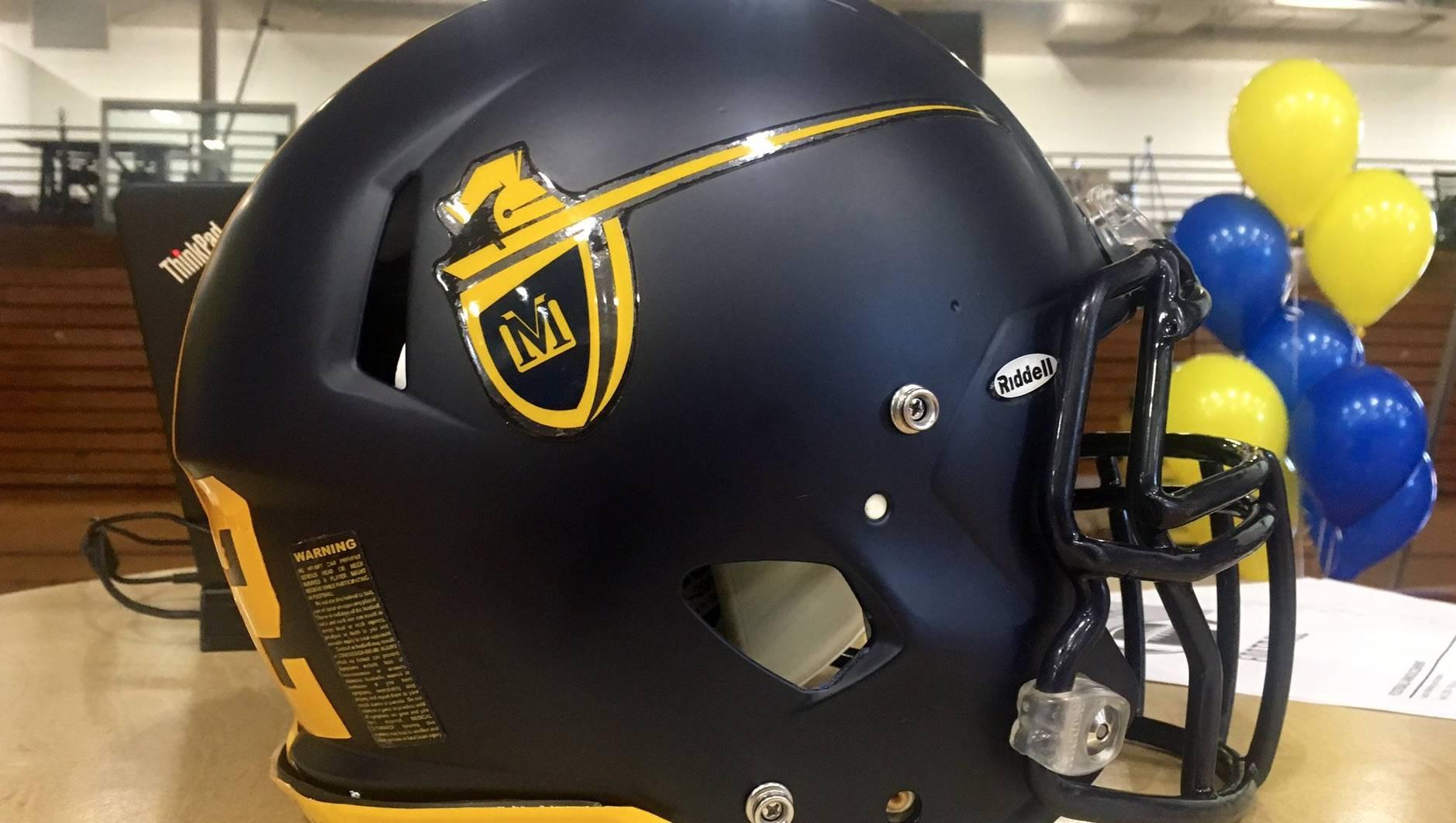 Mount Marty football helmet