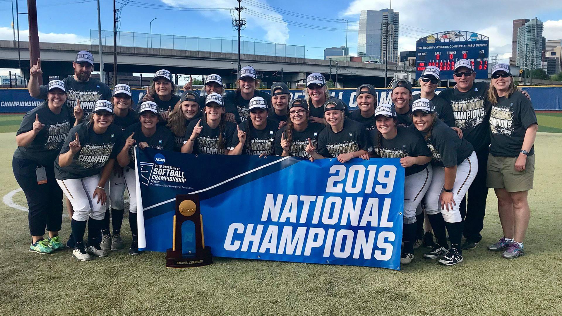 Augustana University National Softball Champions