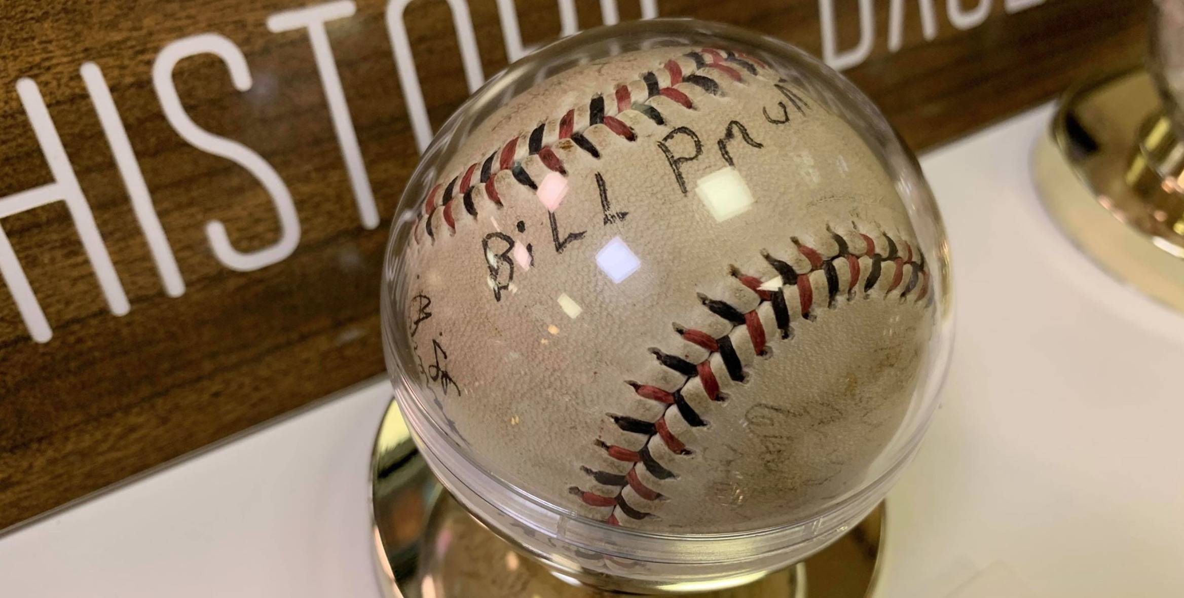 Photo of a signed baseball