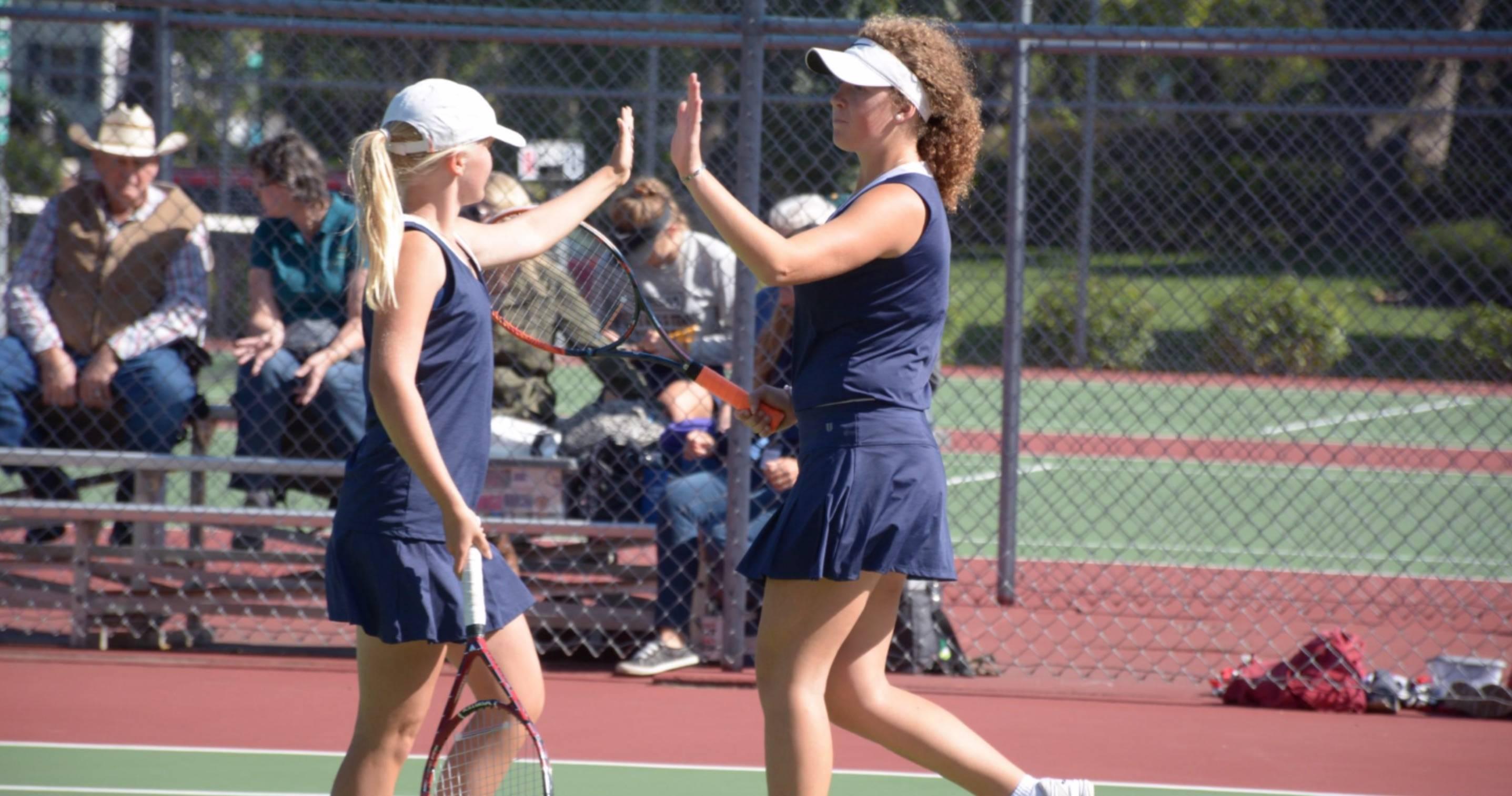 Girl tennis players