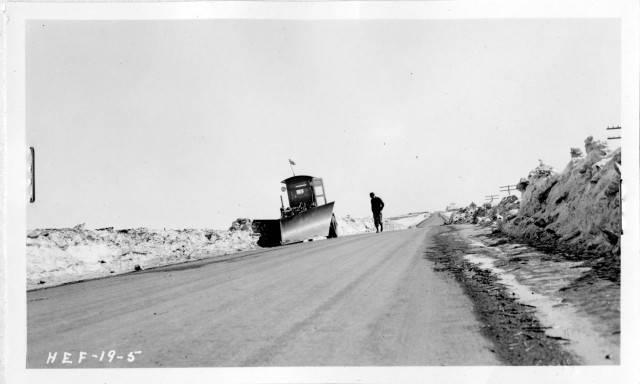 Image - Snow plow on motor grader Highway 12 1937.jpg