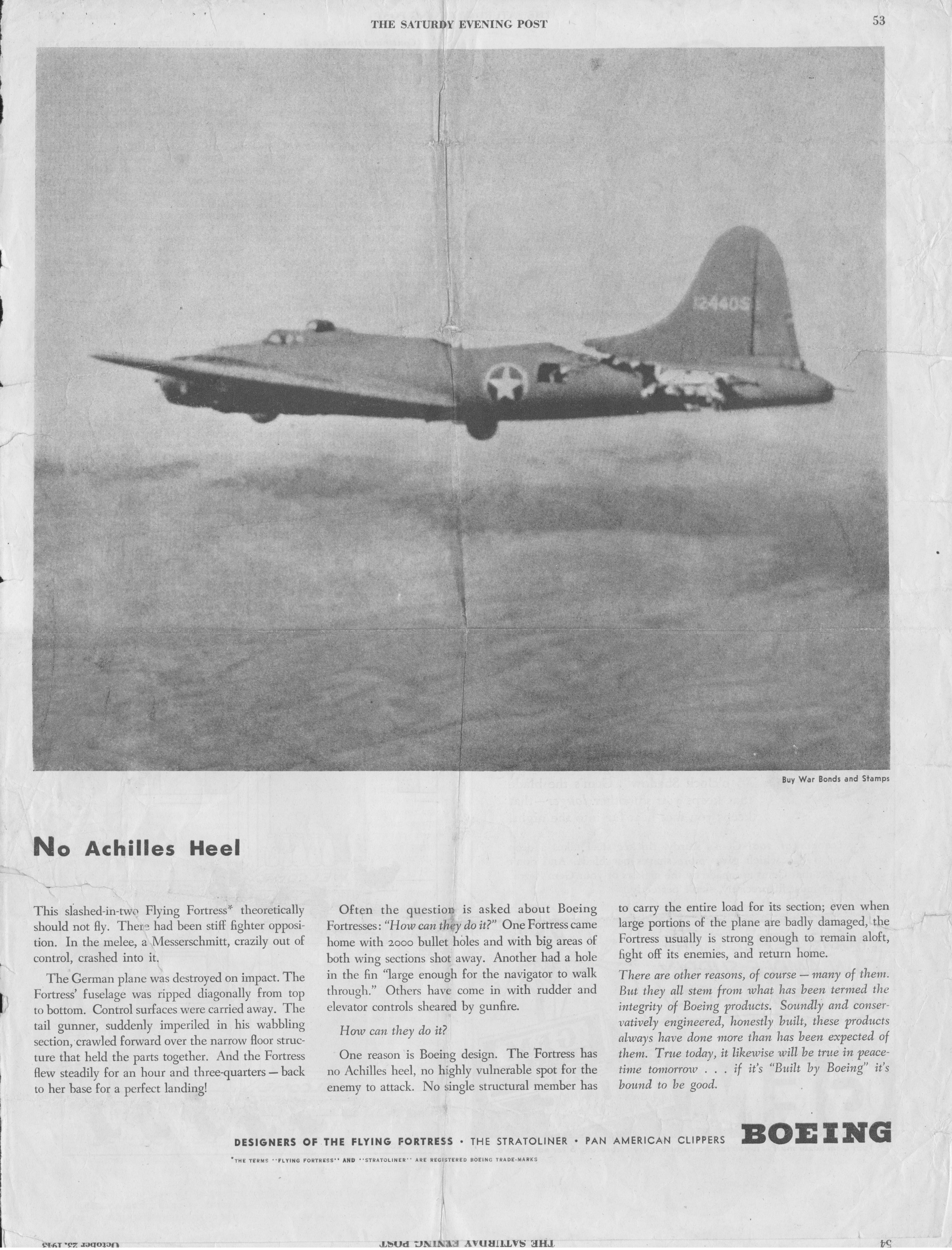 Image - 4) All American  B-17 BOEING Ad - SatEvPost Oct43.jpg