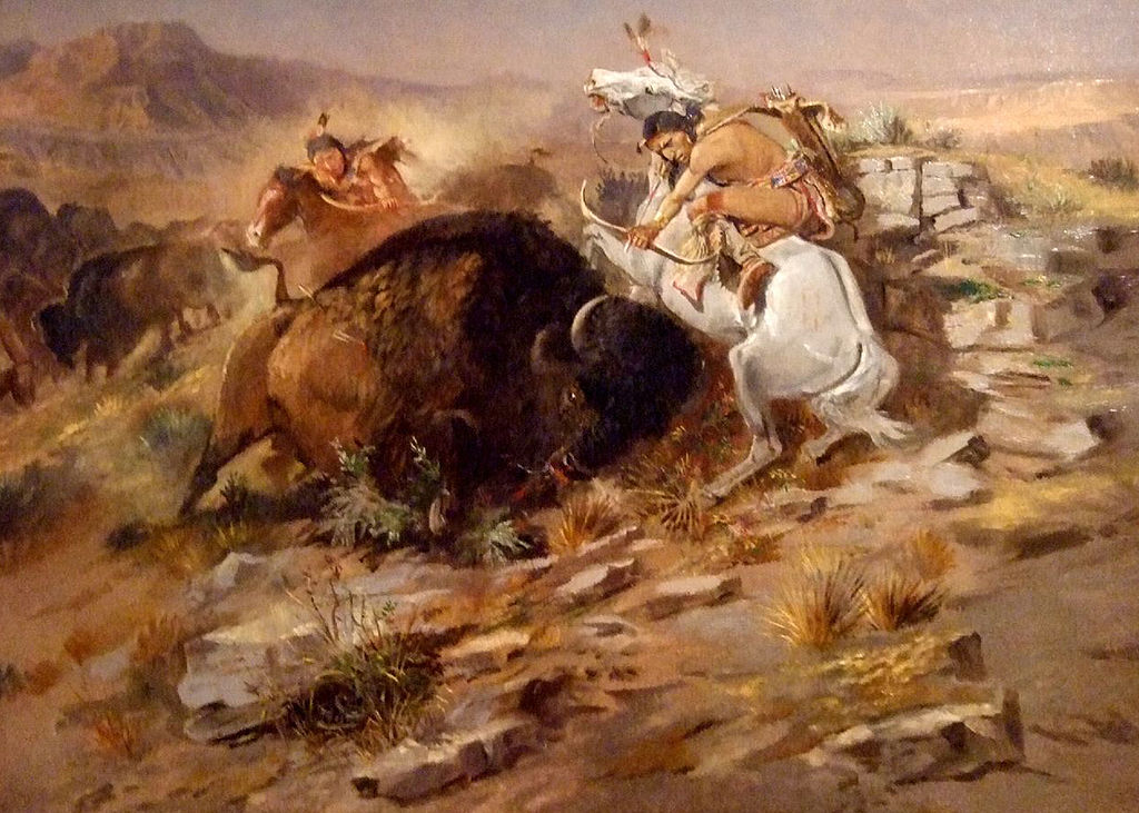 Image - 1024px-Charles_Marion_Russell_-_Buffalo_Hunt.jpg