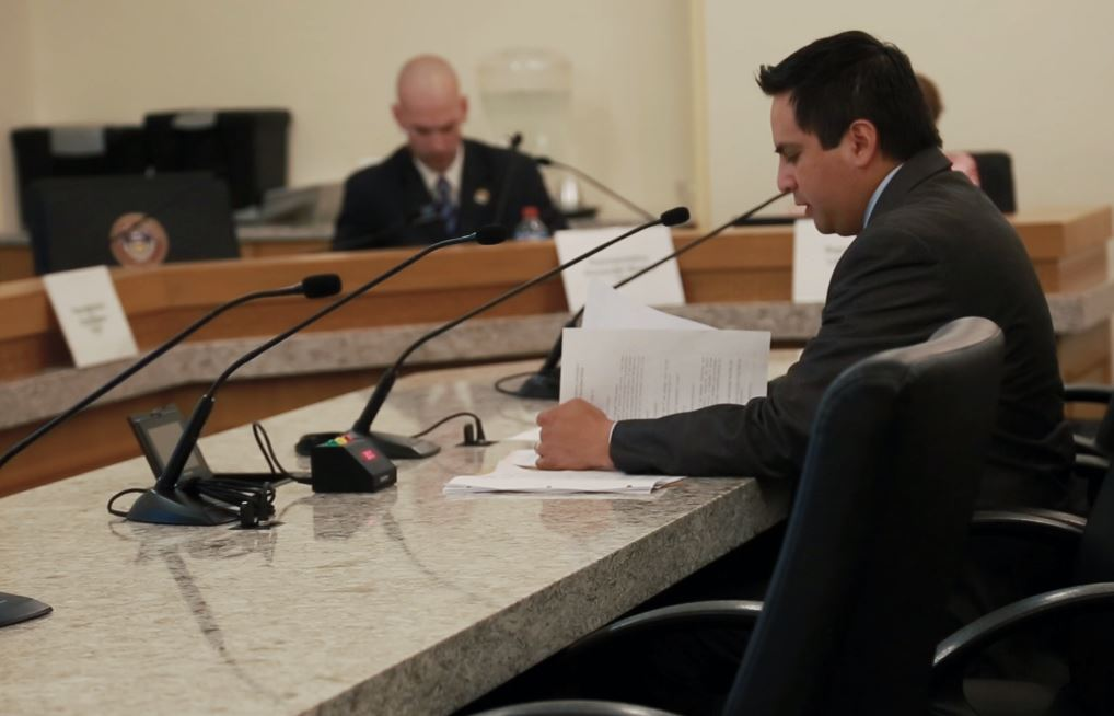 Image - pabon in front of committee.JPG