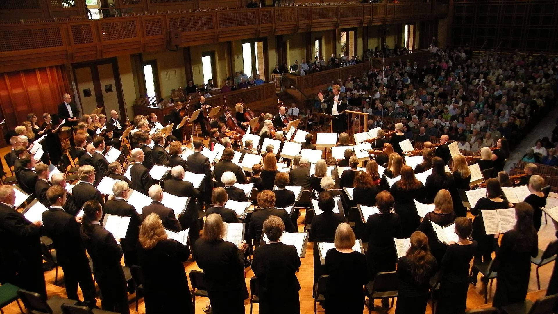 Berkshire Lyric performers facing the conductor