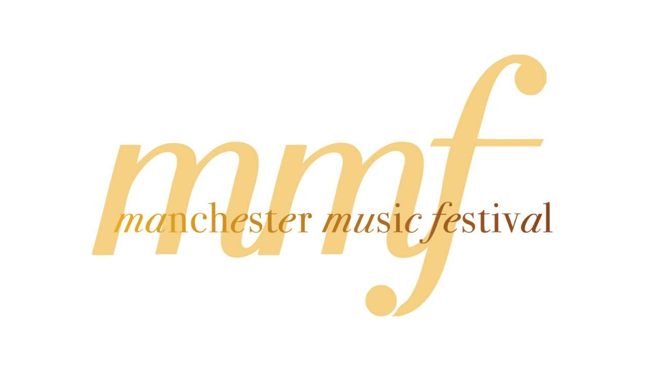 Manchester Music Festival in yellow and gold