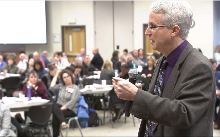 Image - Dr. Peter Langman teaches Colorado educators about warning signs.JPG