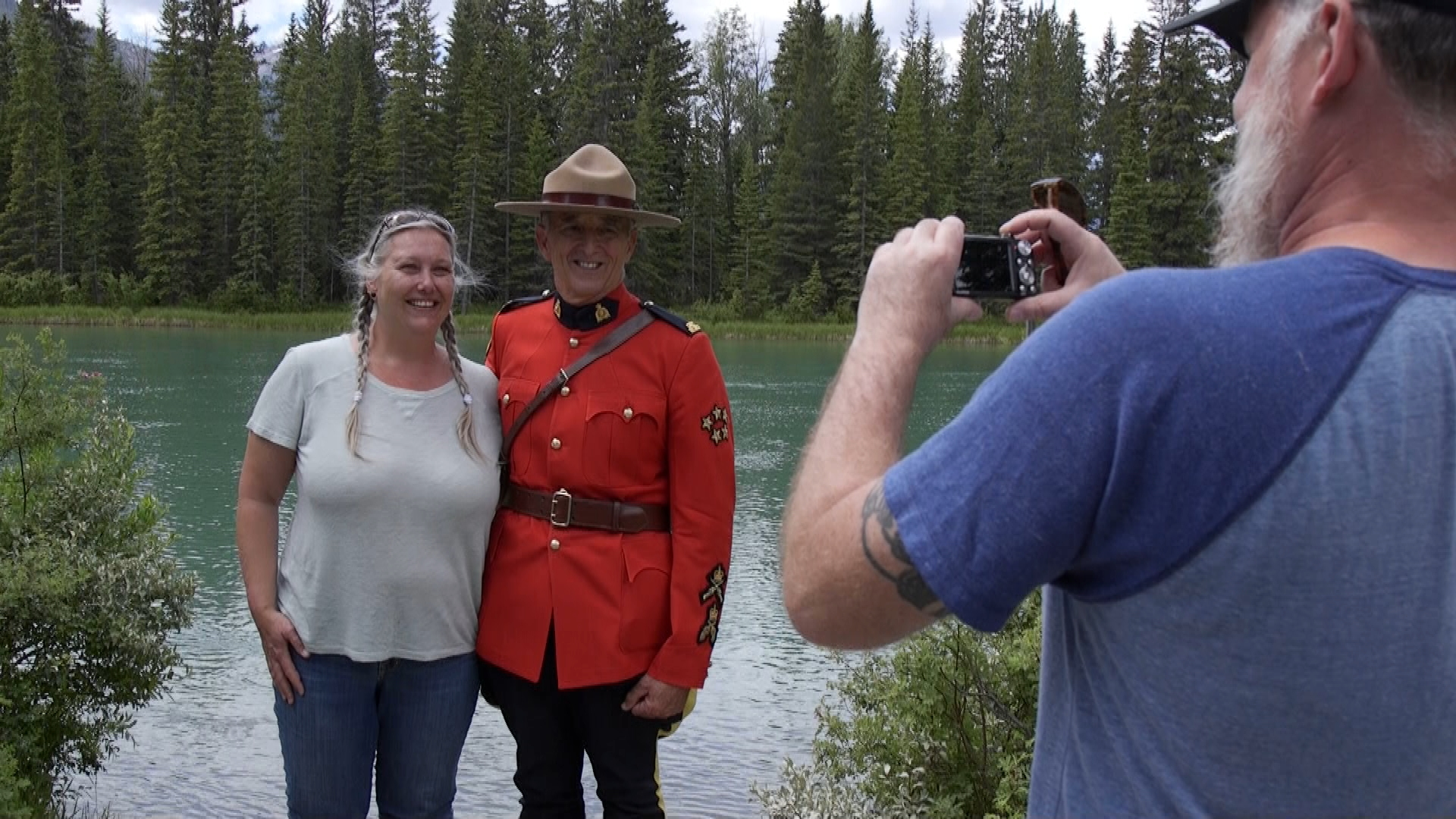 retired Mountie Pat Kamenka in Banff