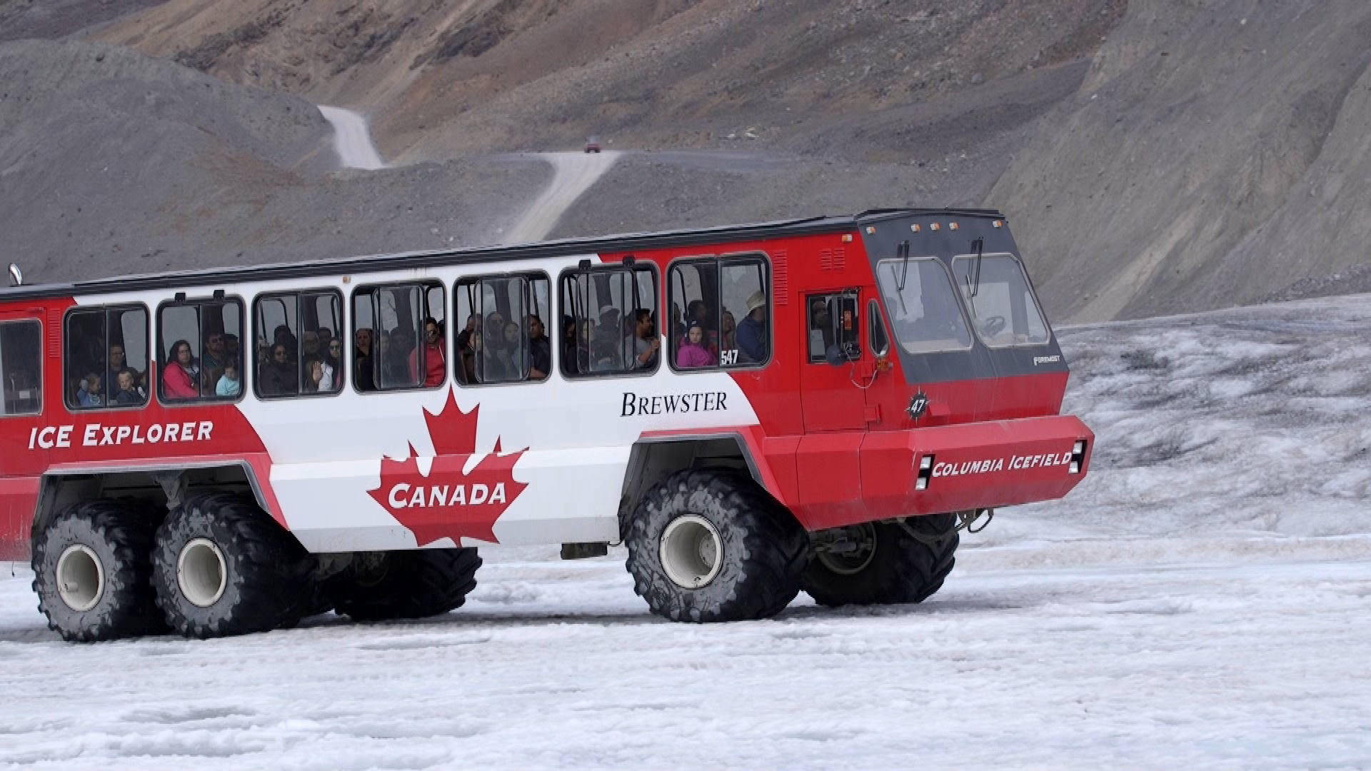 Journey to the Athabasca Glacier