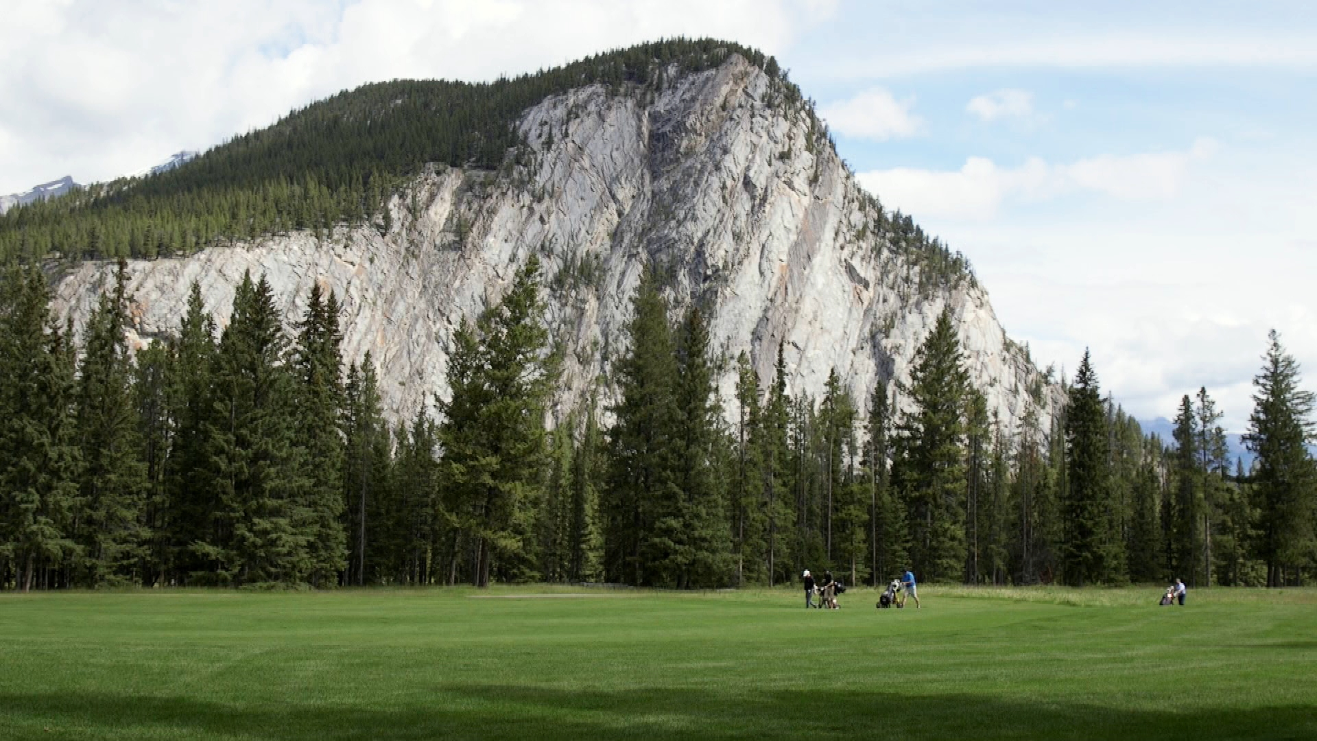 Golf course at the Fairmont Jasper Park Lodge
