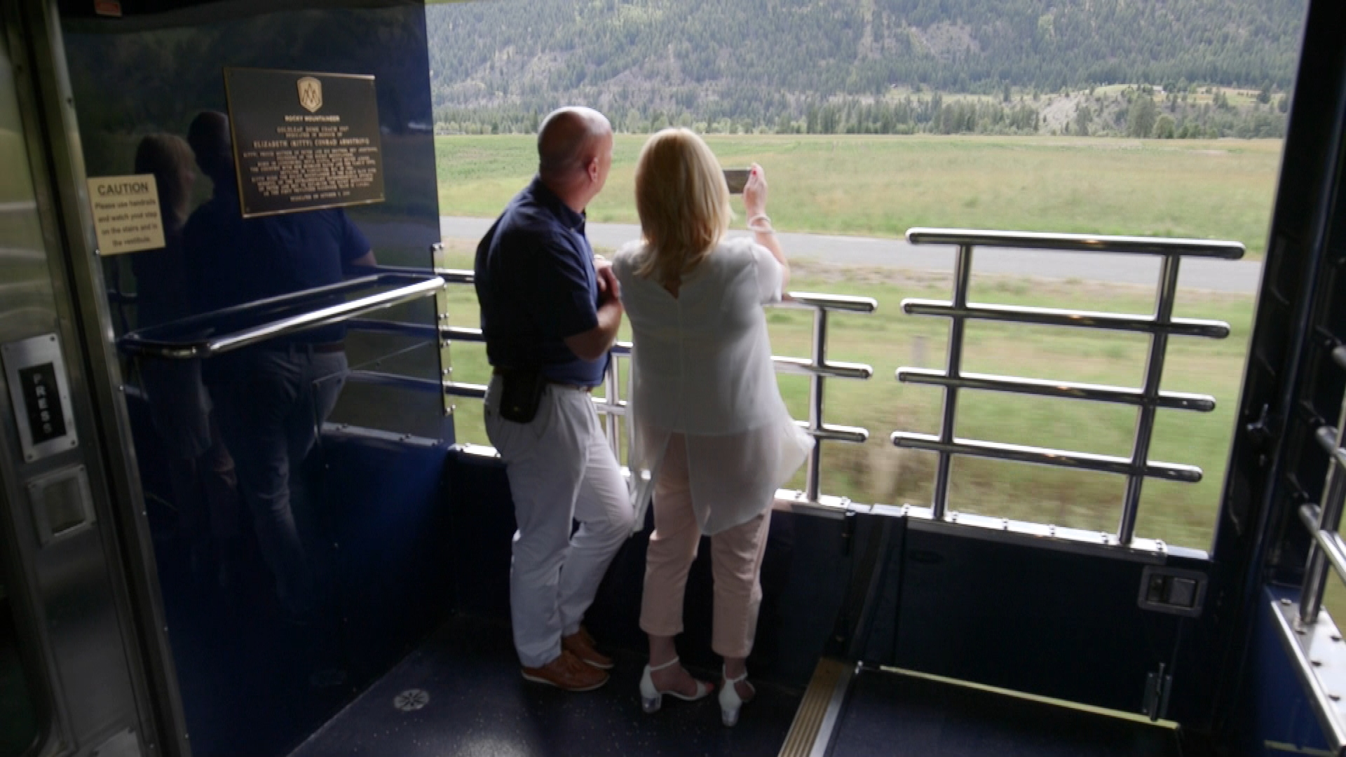 Passengers aborad the Rocky Mountaineer