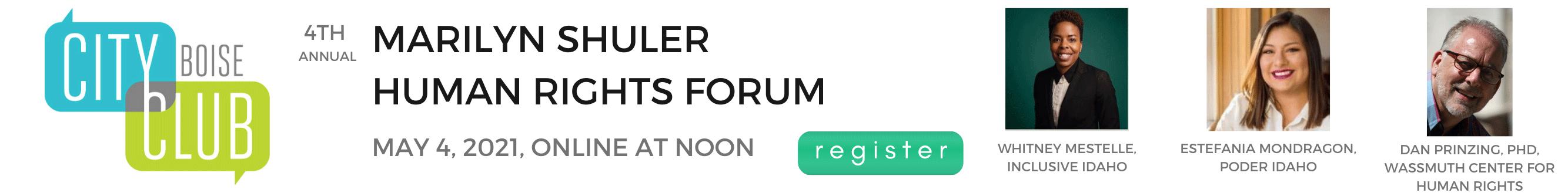 Marilyn Shuler Human Rights Forum