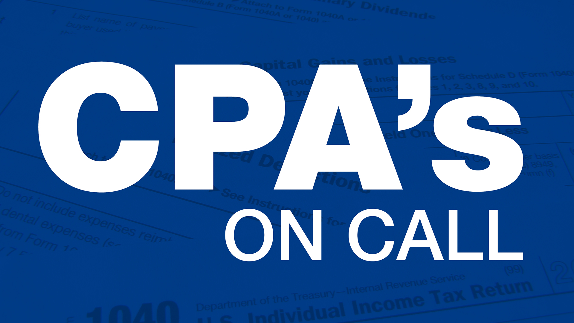 Tax Time: CPA's on Call