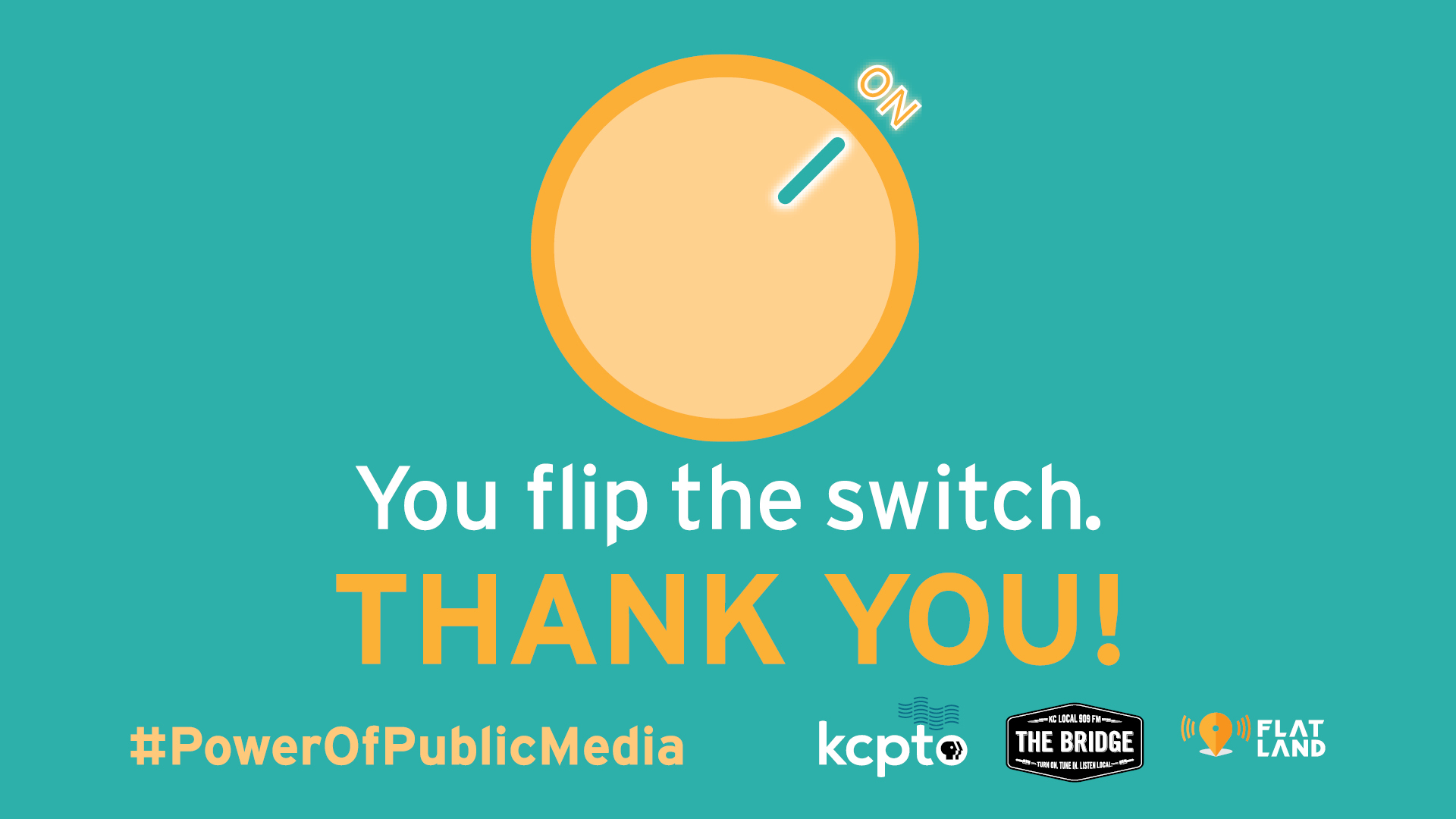 You flip the switch. Thank You.