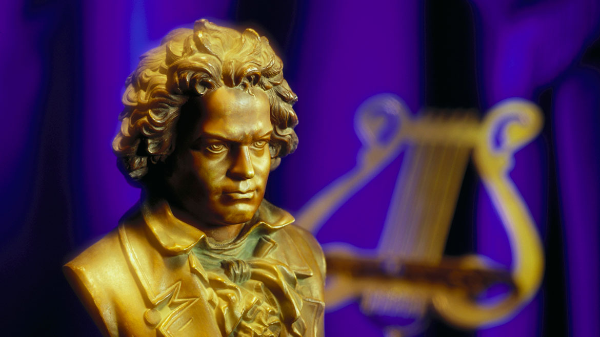 Beethoven bust with music stand