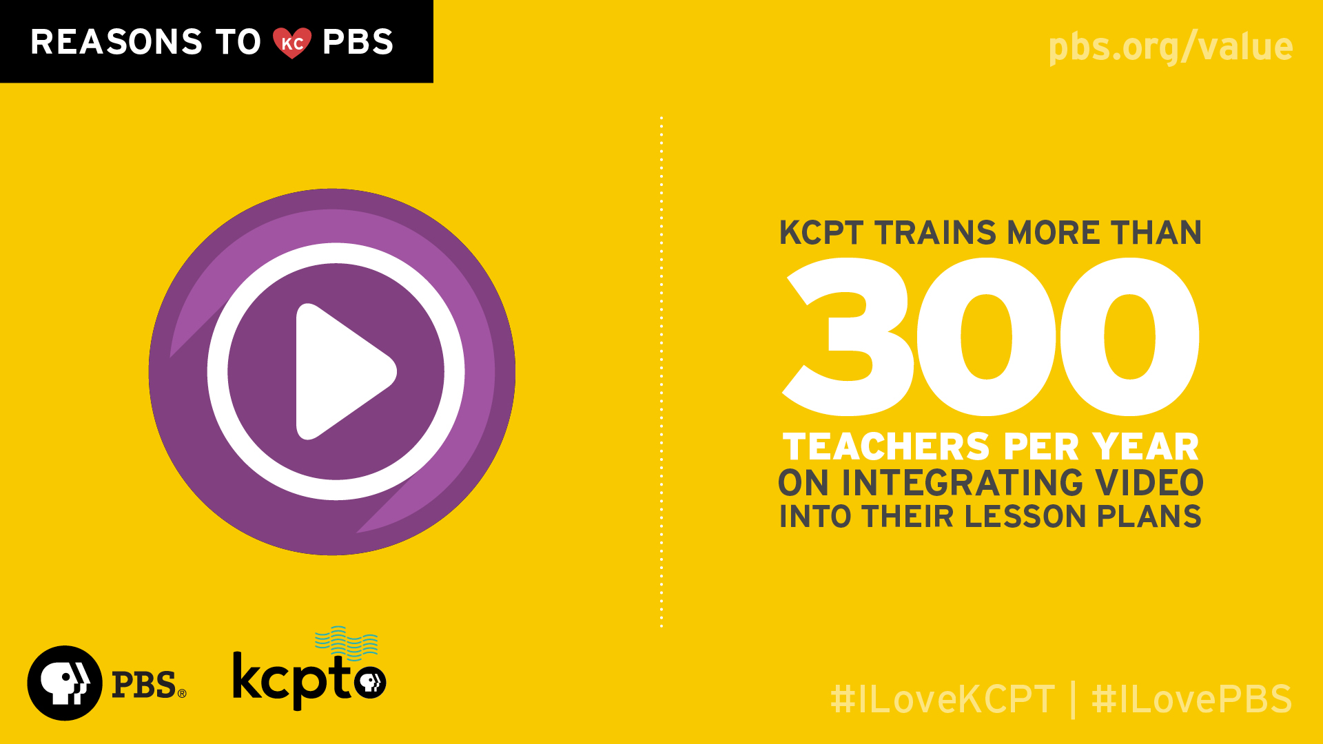 KCPT trains more than 300 teachers per year on integrating video into their lesson plans.