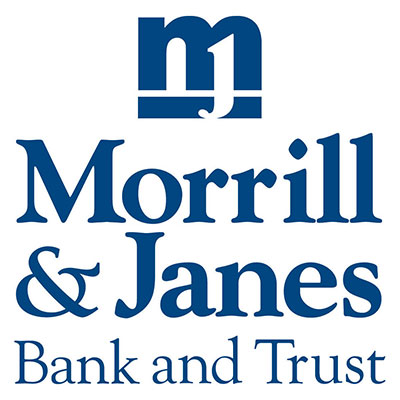 Morrill & Janes Bank and Trust written on white background
