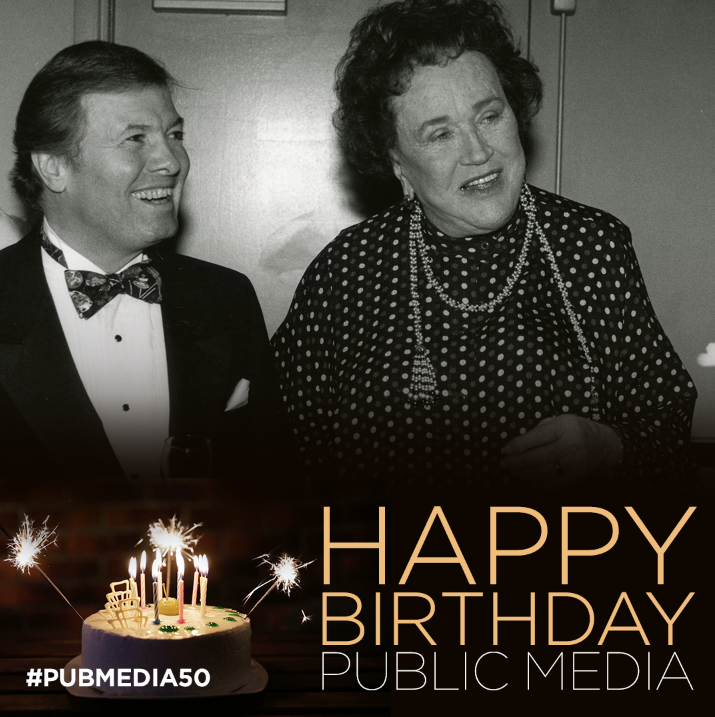 Jacques Pepin and Julia Child, Happy Birthday Public Media #pubmedia50