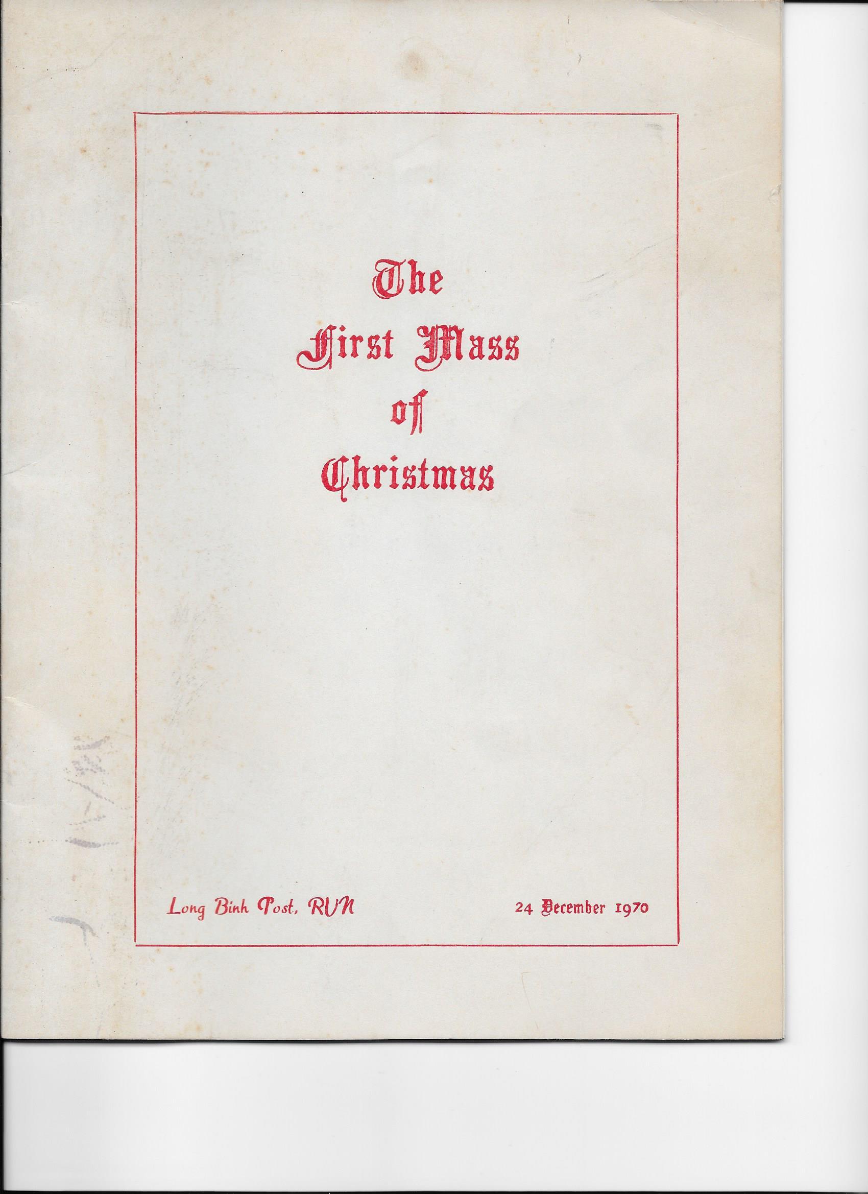 christmas mass 1970 | Carwin Lindenbusch