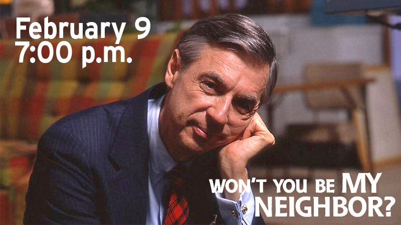 Image of Fred Rogers - promoting Feb. 9 broadcast of Won't You Be My Neighbor?