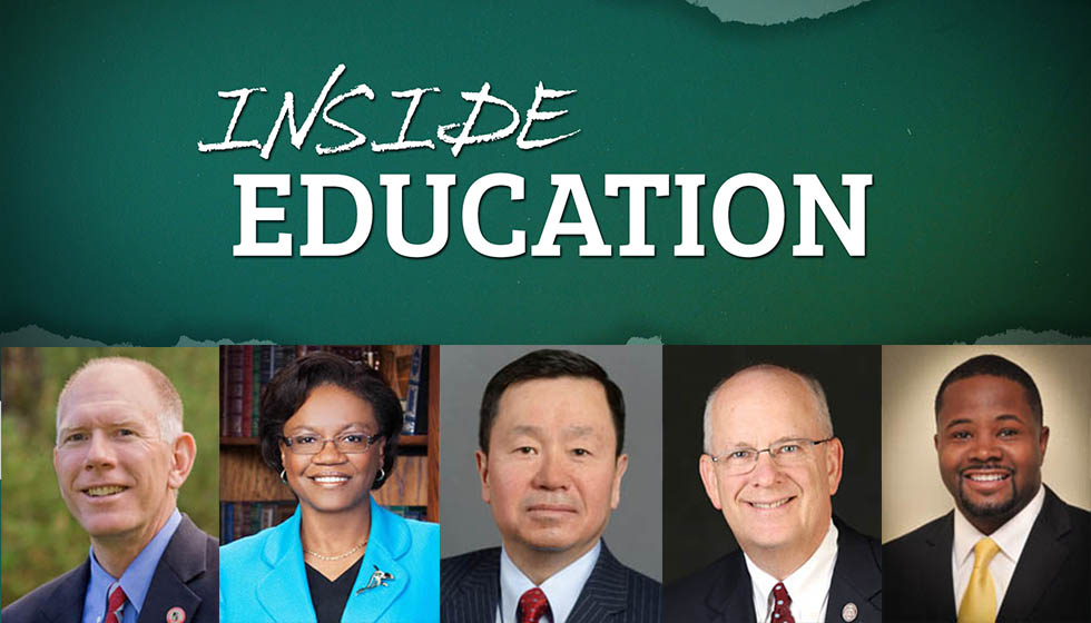 Roundtable discussion on higher education.