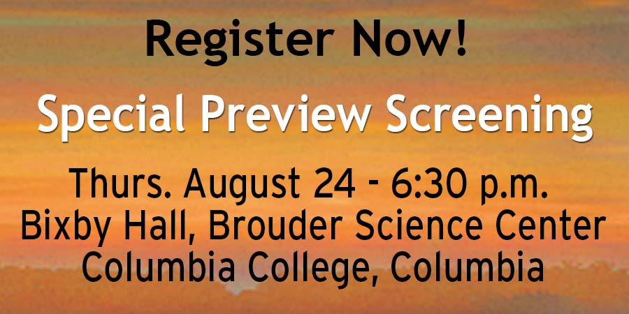 Link to register for August 24 screening at Bixby Hall at Columbia College in Columbia