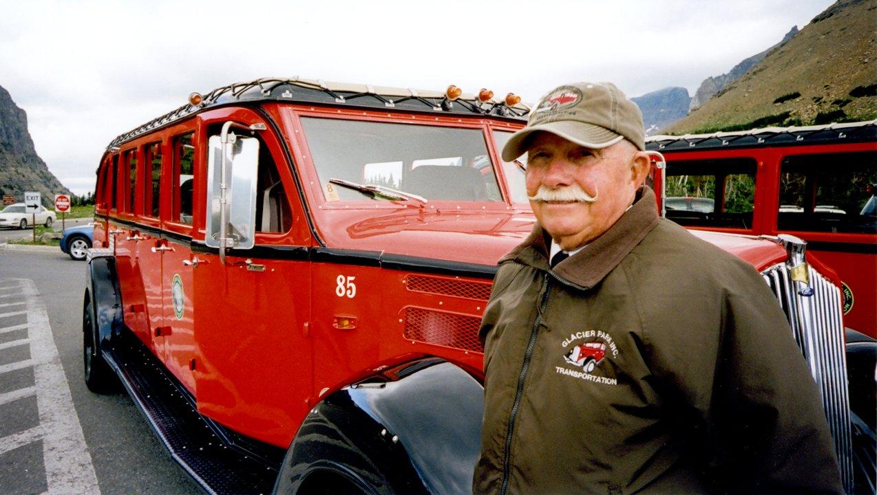 joe kendall concessionaire Glacier National Park 1940s jammer bus