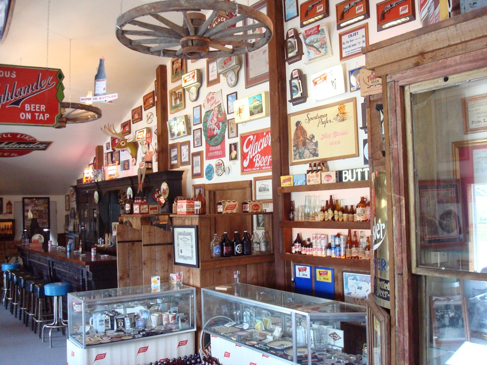 Brewery memorabilia at Glacier Brewery in Polson