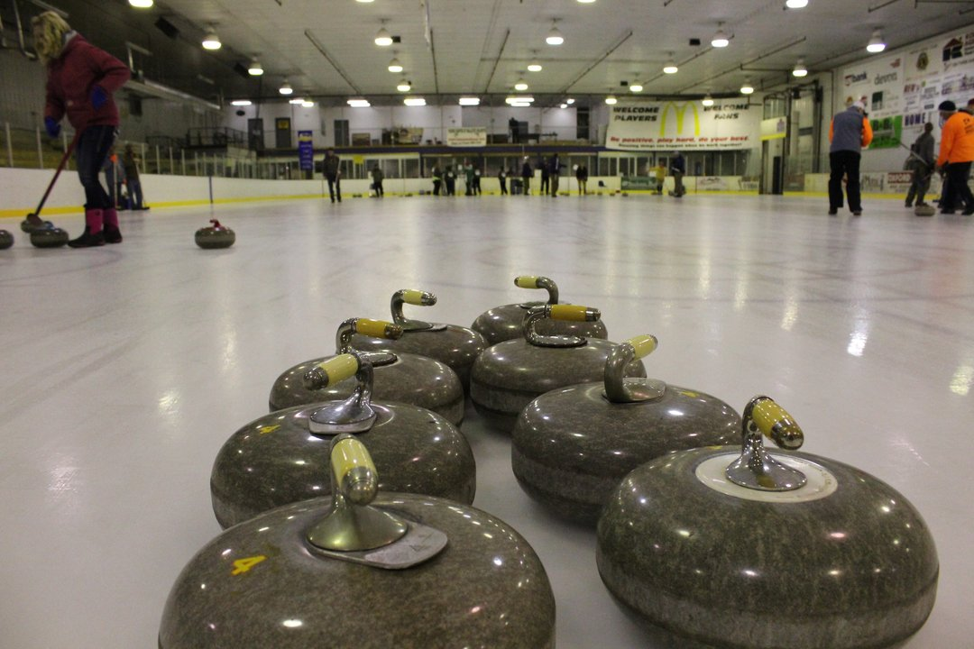 curling curlers Harve Montana ice dome annual bonspiel