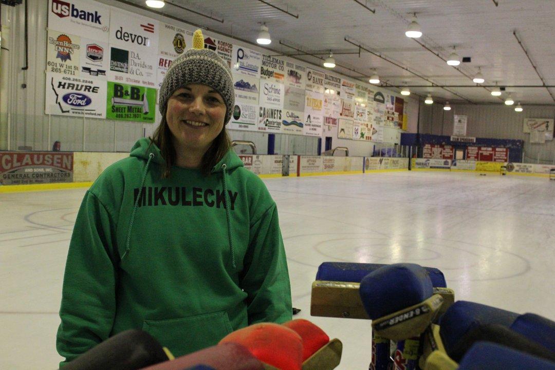Adria Mikulecky Rudyard curling match Highline curling club bonspiel