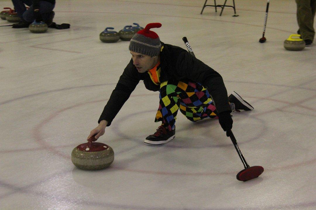 Jayme Green of Billings curling stone annual bonspiel Havre