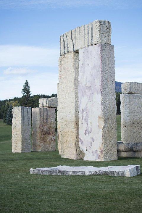 stone stones trilithon replica Stonehenge Air Museum Fortine