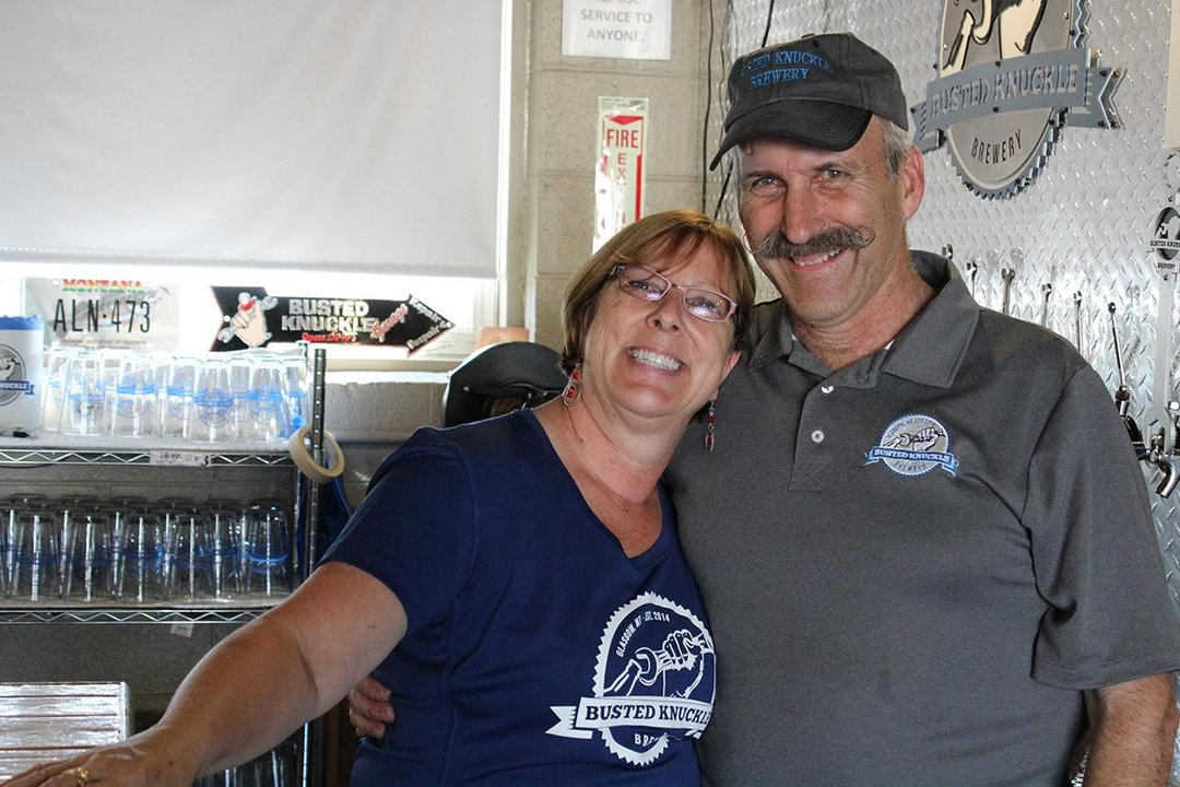 Connie Ben Boreson owners Busted Knuckle Brewery Glasgow Montana