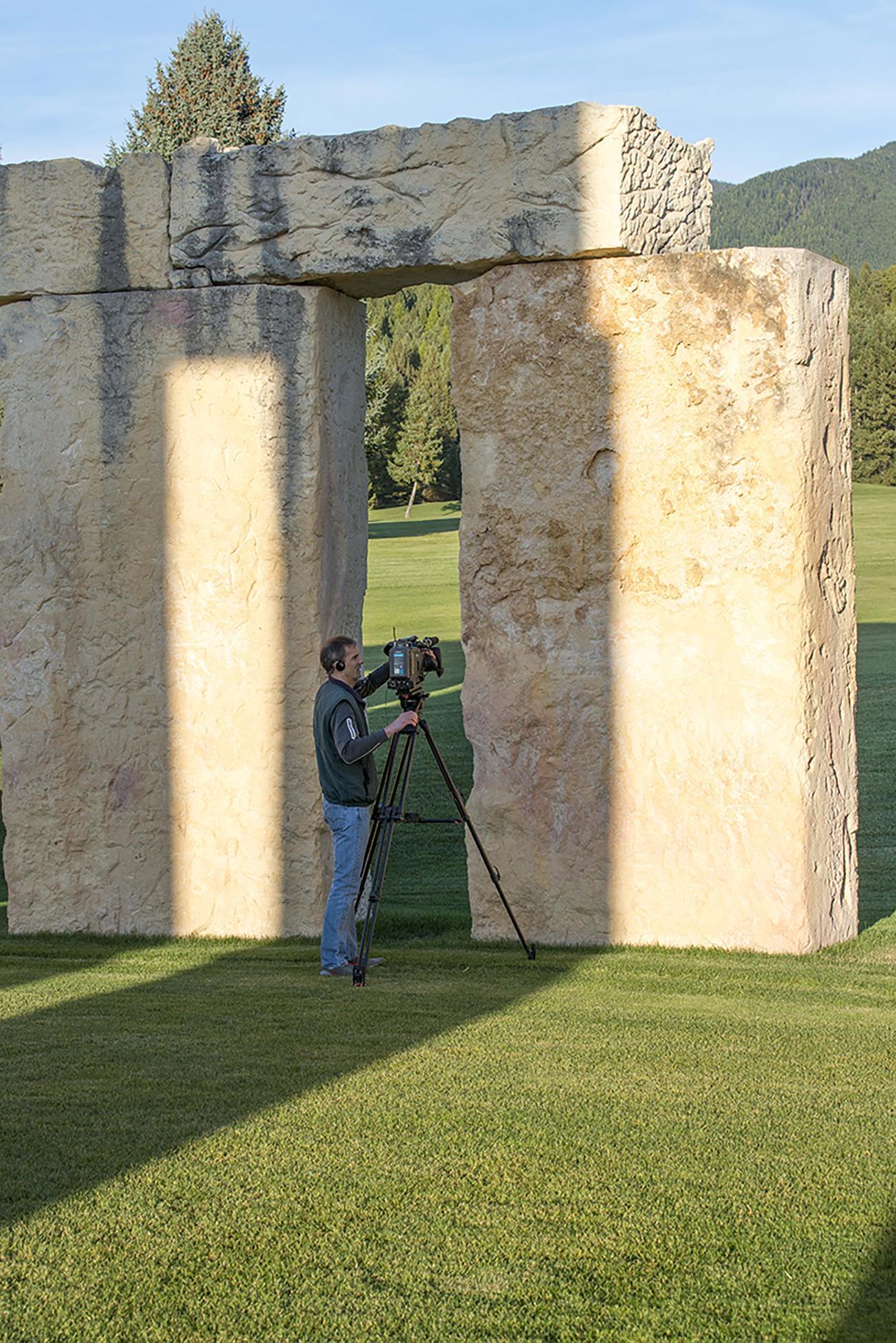 John Twiggs sarsen stones Stonehenge Air Meseum Fortine
