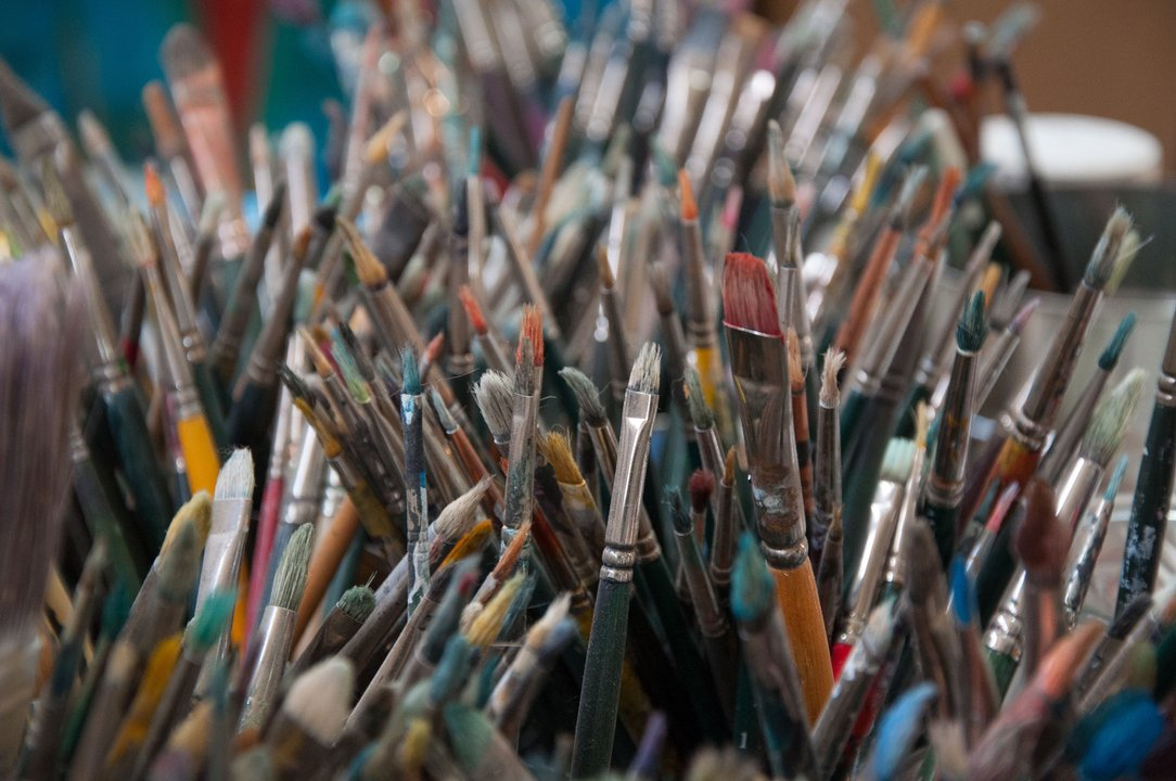 Brushes at Kevin Red Star's Studio