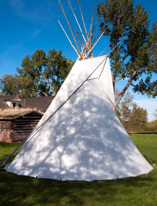 Tipi is at Cheif Plenty Coups State Park in Pryor